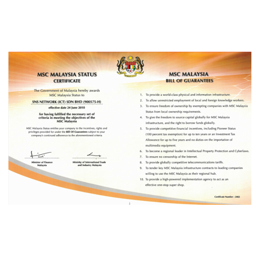 MSC Malaysia Status Company